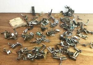 "VTG Sewing Machine Presser Foot Lot 100+ Singer + Other Models ""AS-IS"" PF14"
