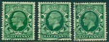 Great Britain Sg-439a, Scott # 210a, Used, Wm Sw, Vf, 3 Stamps, Great Price!