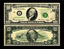 1977 $10.00 Federal Reserve Note Error Currency Offset