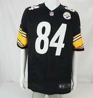 Nike On Field Antonio Brown #84 Pittsburgh Steelers Jersey Black Men's Medium