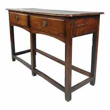 18th Century English Oak two Drawer Sofa Table console