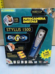 FOTOCAMERA DIGITALE STYLUS 1500 8mb WEBCAM VIDEO AUDIO RECORDER NEW!!