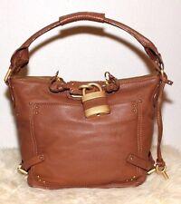 Chloe Paddington Hobo Brown Leather Padlock Shoulder Bag