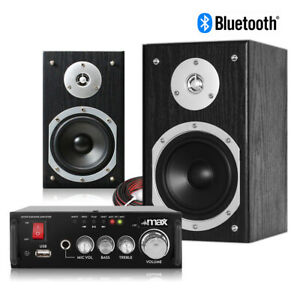 """HiFi Speakers and Stereo Amplifier with Bluetooth, 5"""" Home Audio Music System"""