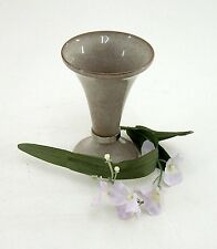 Vase VEB Thüringer Schmuck Waltershausen creme / braun Art.-Nr. 12990 ca. 11 cm