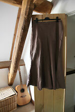 Cherokee Ladies Long Linen / Cotton Brown Summer Skirt Size12