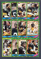 1986 Topps Pittsburgh Steelers TEAM SET