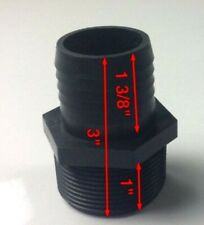 "1 1/2"" Barbed Hose Fitting  2"" Female Threaded"