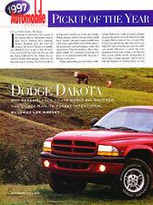 1997 Dodge Dakota Club Cab Sport Truck Original Car Review Print Article J510