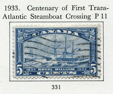 1933 Canada. Centenary of First Trans-Atlantic Steamboat Crossing. 5c blue USED.