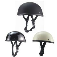 DOT Half Motorcycle Helmet Skull Cap Retro Scooter Chopper Cruiser S/M/L/XL/XXL
