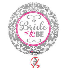 """Bride To Be Helium Foil Balloon 18"""" Pink Silver Hen Party Decoration Accessories"""