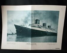 FRENCH LINE SS NORMANDIE Mini Poster Insert Petit Parisien