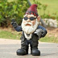 Gnome Biker Male with Helmet Figurine - Home / Garden Decor New Statue