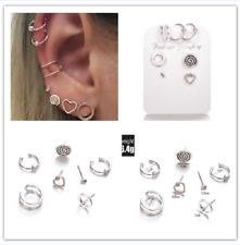 7pcs/Lots Boho Retro Stud Clip Earrings Women Shell Ear Clip Cuff Jewelry Gift