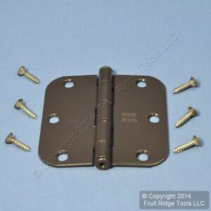 """Oil Rubbed Bronze Steel Round Corner 3.5"""" Interior Door Hinge Hardware N331-587"""