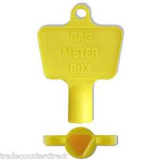 Gas Meter Box Key - Spare Gas Meter Box Key - Yellow Plastic