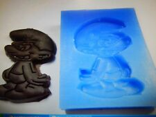Cartoon Figure Silicone Smurf Mould Cake decoration Icing Sugarcraft Wax Soap