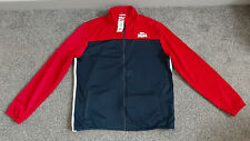 NEW Lonsdale London Men's Track Sport Jacket Red Navy Full Zip Extra Large XL