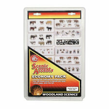 More details for woodland scenics accents economy pack asst farm set a2601 n scale figures