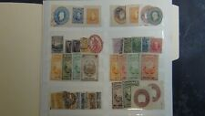 Costa Rica revenues and cut Squares stamp selection on sheet