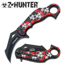 Z-Hunter Zb060Rs Zombie Karambit Assisted Opening Linerlock Folding Knife