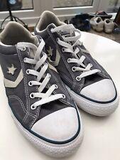 Converse All Star Castlerock Low Top Grey Blue Trainers UK 8 Chevron Star