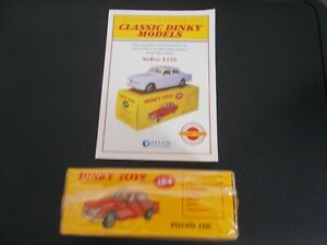 Atlas Editions Dinky Toys 184 Volvo 122S - New in box + COA