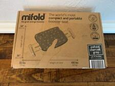 New listing Mifold Comfort Grab-n-Go Booster Car Seat Compact Portable Charcoal Gray