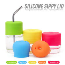 Silicone Sippy Cup Lid Straw Cover--Water Bottle Cute Kids Spill-Proof CYP