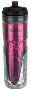 Zefal 165 Arctica 25oz Insulated Bicycle Water Bottle, Pink/Silver