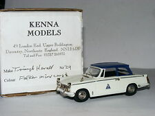 Kenna Models Triumph Herald Falken White/Blue LTD ED 1/43