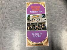 Frontier Village Amusement Park San Jose flyer 1975
