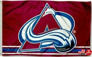 COLORADO AVALANCHE FLAG 3'X5' 3X5 BANNER NEW FAST FREE SHIPPING