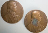 2 Lot 1911 French Medal Issued to Honor Rouget De Lisle 1760-1836 By A Borrel