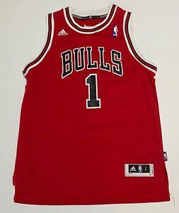"Chicago Bulls Derrick Rose Jersey NBA Adidas YOUTH Lare + 2"" Length"
