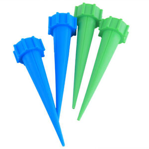 4pcs Cone Automatic Self Watering Irrigation Spikes Stake Feeder Bottle Drip Pot