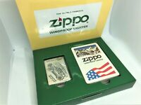 ZIPPO 1994 Limited Edition OUTDOOR SPORTS Etched Lighter w Playing Cards Set