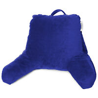 Soft Reading Pillow, TV & Bed Rest Pillow, Arms Support With Pockets -Royal Blue