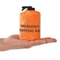 Reusable Emergency Sleeping Bag Waterproof Survival Camping Travel Bag &/Whistle
