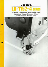 Juki LH-1152-4 Series Industrial Sewing Machine Original Factory Dealer Brochure