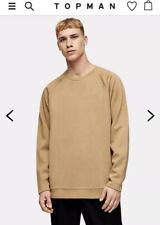 TOPMAN PREMIUM Camel Zip Sweatshirt Rt $80 New Sz M Current Collection