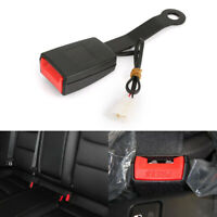 Camlock Auto Car Front Seat Belt Buckle Socket Plug Connector & Warning Cable EC
