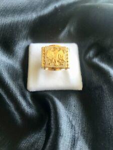 Stunning 18ct solid gold handmade Men's ring