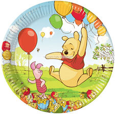 Pack of 10 Disney Winnie the Pooh Birthday Party Paper Plates, 23cm, with Piglet