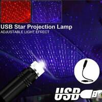 USB Car Interior Atmosphere Lamp Ambient Star Light LED Projector Starry Sky
