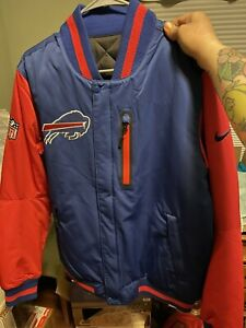 Rare NIKE Buffalo Bills Reversible Defender Padded Jacket Size Medium