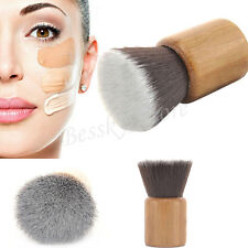 Pro Makeup Brush Flat Top Brush Foundation Powder Brush Wooden Kabuki Brush Tool