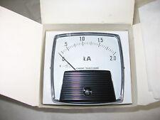 "Yokogawa 3-1/2"" Panel Meter Gauge 0-2000 AC Amps 0-2 kA-Ammeter 0-5A Rating NIB"