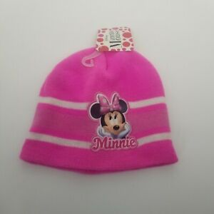 MINNIE MOUSE BEANIE Pink knit hat Disney New with tags